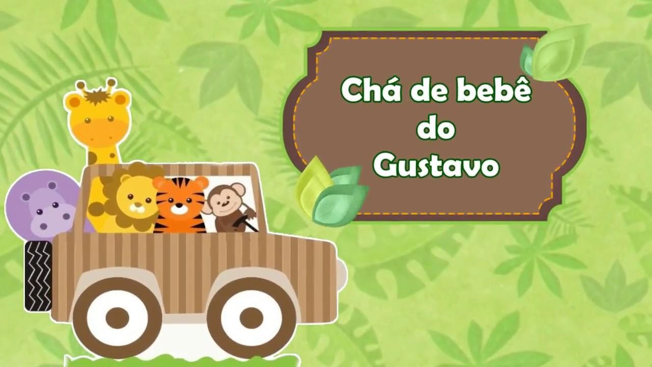 Convite Chá De Bb Safari Youtube