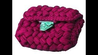 شرح عمل شنطه كروشيه بغرزة الضفيره باستخدام خيط الكليم bag crochet
