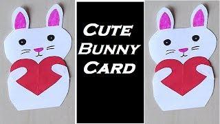 DIY - Bunny Card | Cute Rabbit Card | Rabbit Card for Kids | Sorry Card | Cute Rabbit Card Making