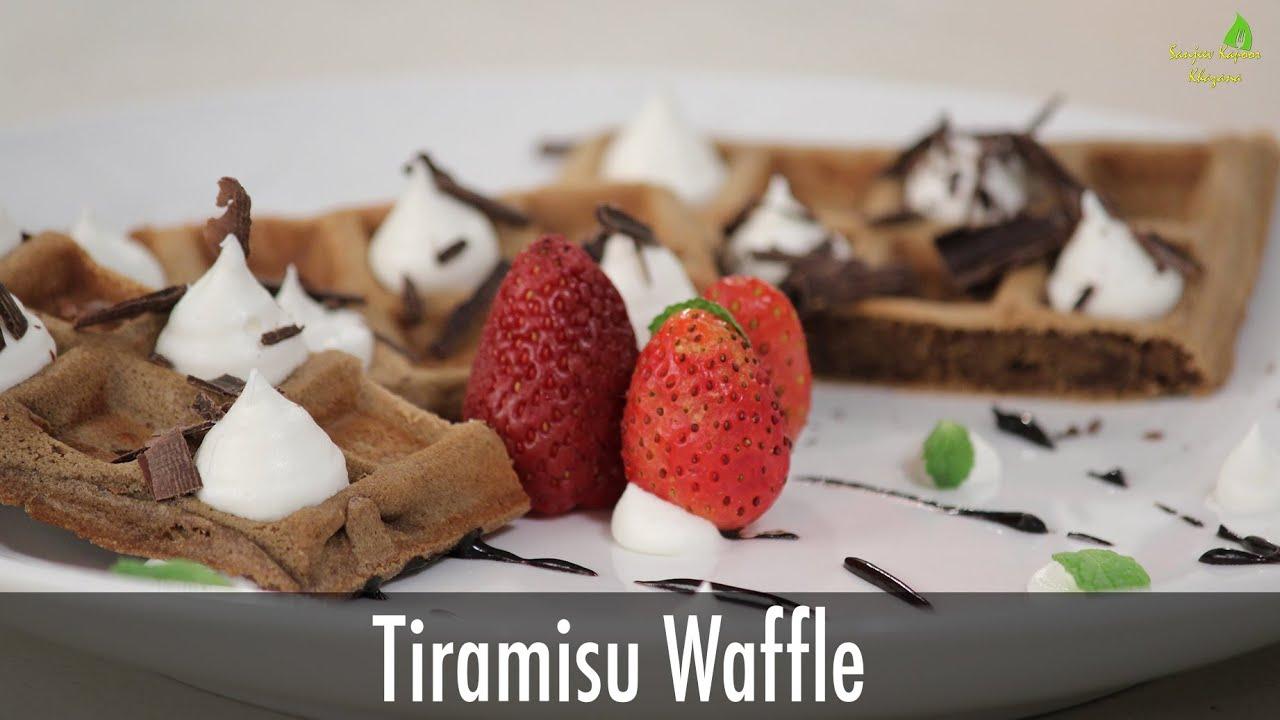 Tiramisu Waffle | Valentines Day Special | Sanjeev Kapoor ...