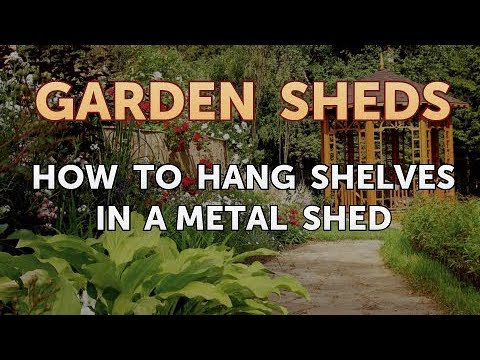 How to Hang Shelves in a Metal Shed