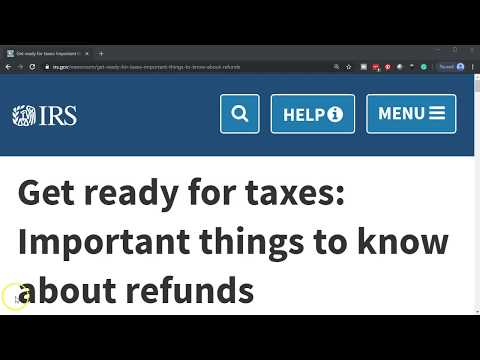 IRS News - Get Ready For Taxes: Important Things To Know About Refunds