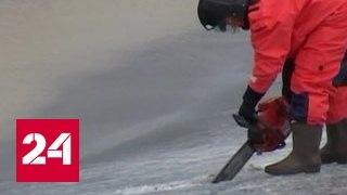 На кемеровских реках взрывают лед