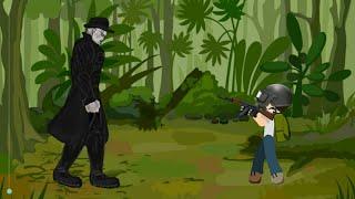 PUBG Animación - TIRANO (Señor X) lucha con el JEFE de Dibujo de caricaturas 2