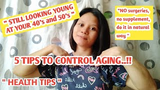How to control agİng in natural way/Tips how to maintain looking young/Health tips/Smile Here