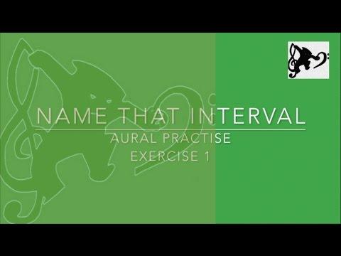 Intervals Training Music Exercise 1 - Aural Practise