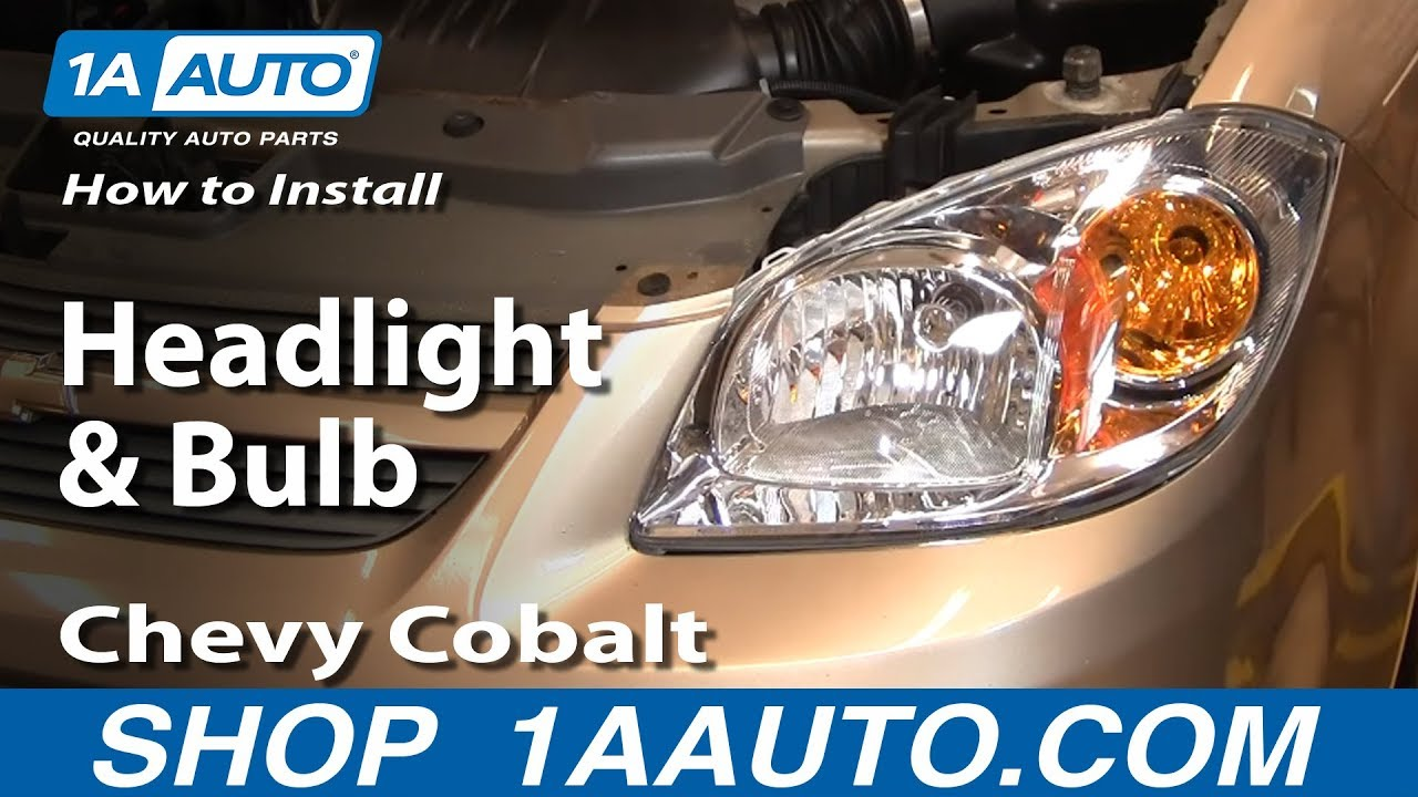 How To Change Headlight Bulb >> How To Install Replace Headlight and Bulb Chevy Cobalt 05 ...