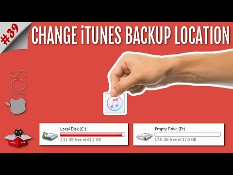 How to change the iphone backup location on windows 7