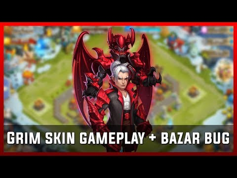 Grim Skin Gameplay + Bazar Bug | Castle Clash [Deutsch]