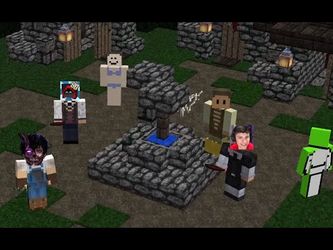 Dream Team Plays Town Of Salem in Minecraft! (Ft. Dream, Corpse, LazarBeam, George, and Quackity)