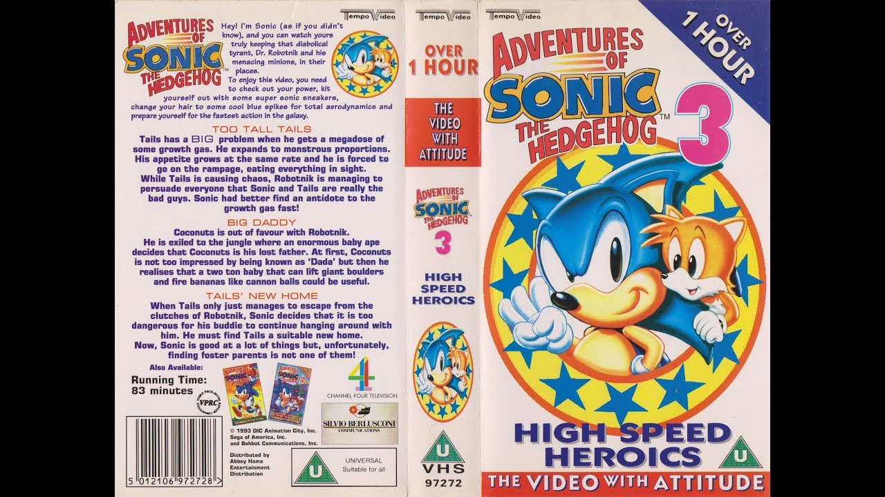 Original Vhs Opening The Adventures Of Sonic The Hedgehog Volume 3 Uk Retail Tape Youtube