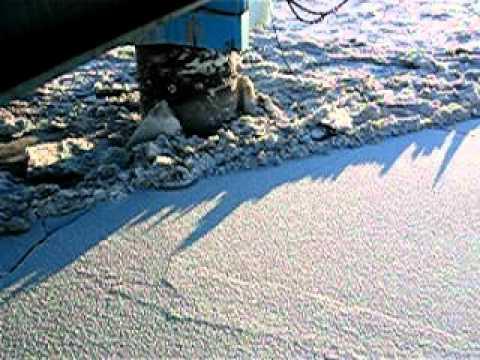 Osprey Offshore Platform Breaking Cook Inlet Ice