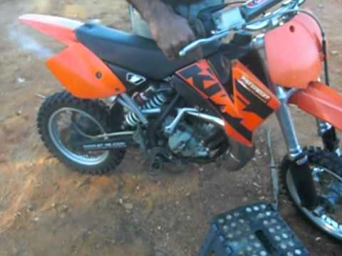 pitbike ktm 80 a 2t - youtube