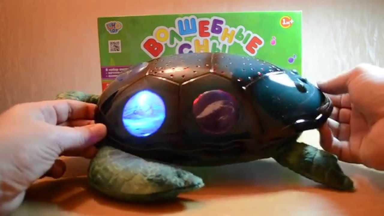 Светильник проектор 'черепаха' с музыкой, Ночник проектор .