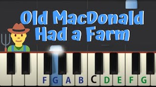 Easy Piano Tutorial: Old MacDonald Had a Farm