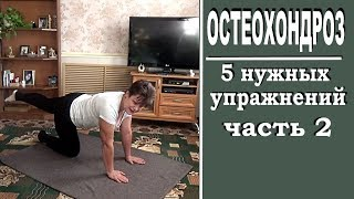 Упражнения для мышц спины при остеохондрозе  Часть 2