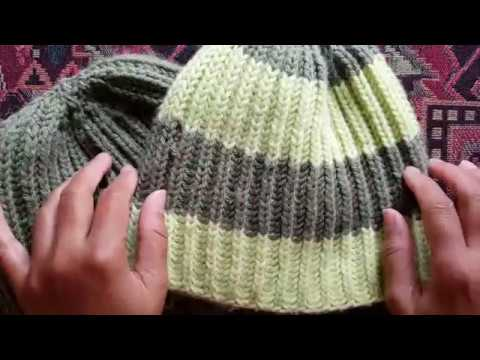 How to knit 1 color brioche hat  A Knittycat s Knits tutorial - YouTube a977b4033fb