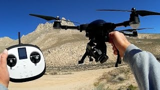Simtoo Dragonfly Pro Folding Drone Controller Flight Test Review