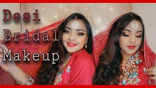 Desi bridal makeup look 🦋❤️