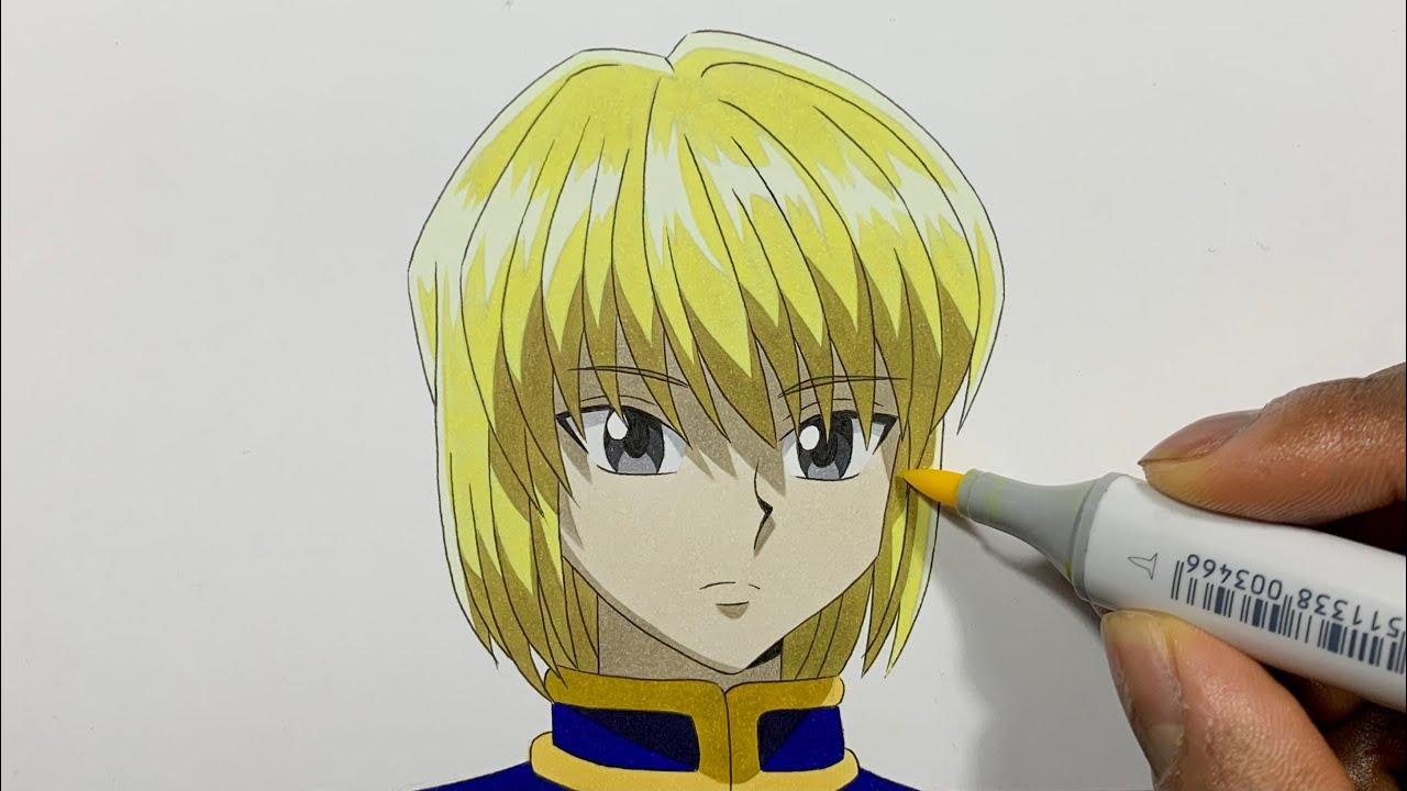 How to Draw Kurapika Easy - Hunter x Hunter (Hantā Hantā / ハンター×ハンター)