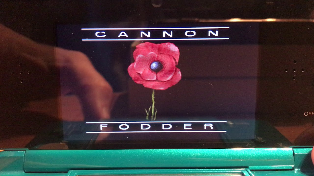 Cannon Fodder on 3DS/NDS handheld - SNES Emulator