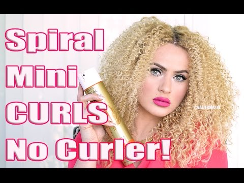 How To Get Spiral Curls Without A Curling Iron!