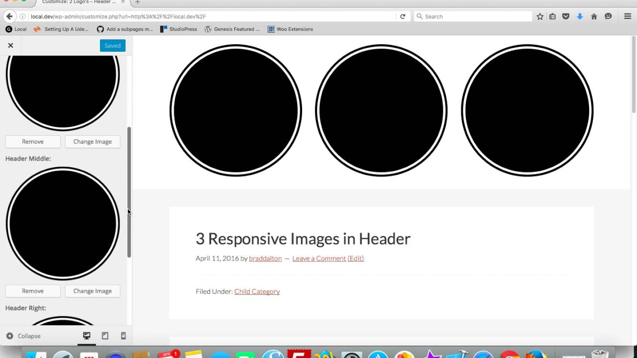 Download 3 Header Images Added Via The Customizer in Genesis