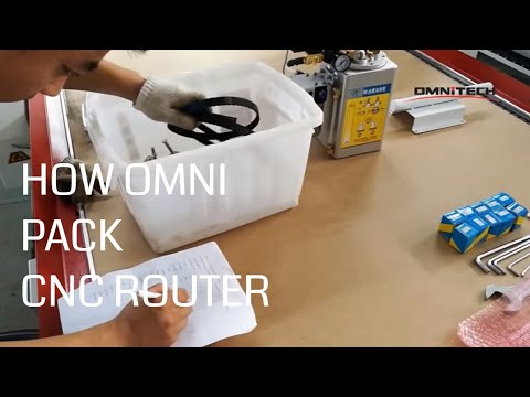 China Omni Cnc Router Whole  Packaging Process
