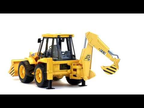Экскаватор – погрузчик колёсный JCB 4CX, 02-428 02428 Bruder Спецтехника игрушка подарок