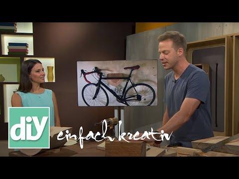 Fahrradhalterung für die Wand | DIY einfach kreativ
