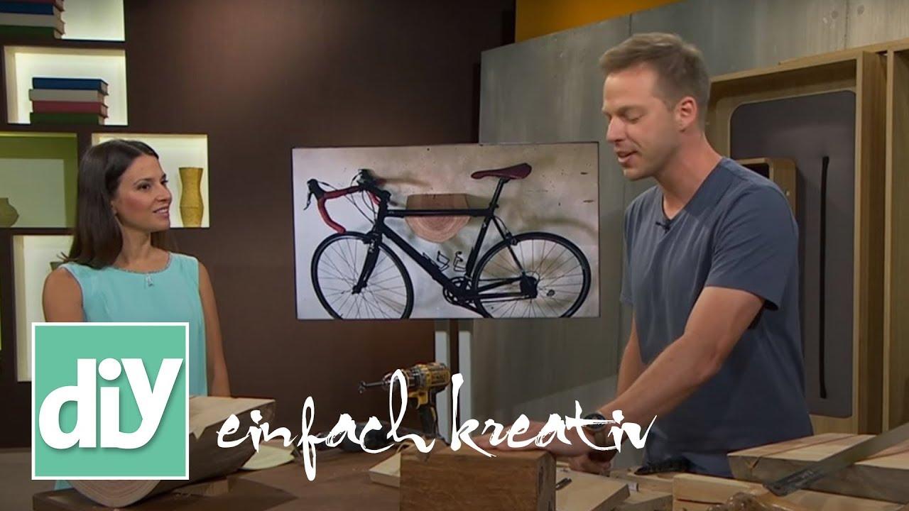 Fahrradhalterung Fur Die Wand Diy Einfach Kreativ Youtube