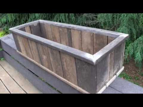 How To Trex Decking Made Into Flower Pot Youtube