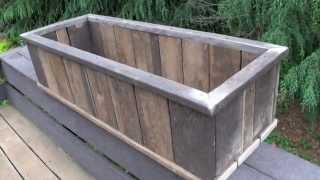 How To: 'trex' Decking Made Into Flower Pot