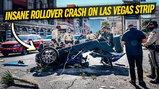 Crazy Driver FLIPS Rental Car Upside Down *High Speed Crash*