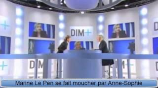 Marine Le Pen se fait moucher par Anne-Sophie Lapix