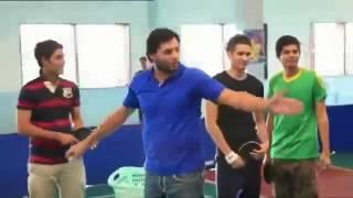 shahid afridi training spin balls