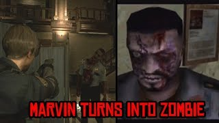 Marvin Turns into Zombie Then vs Now Comparison (1998 vs 2019) - Resident Evil 2 Remake