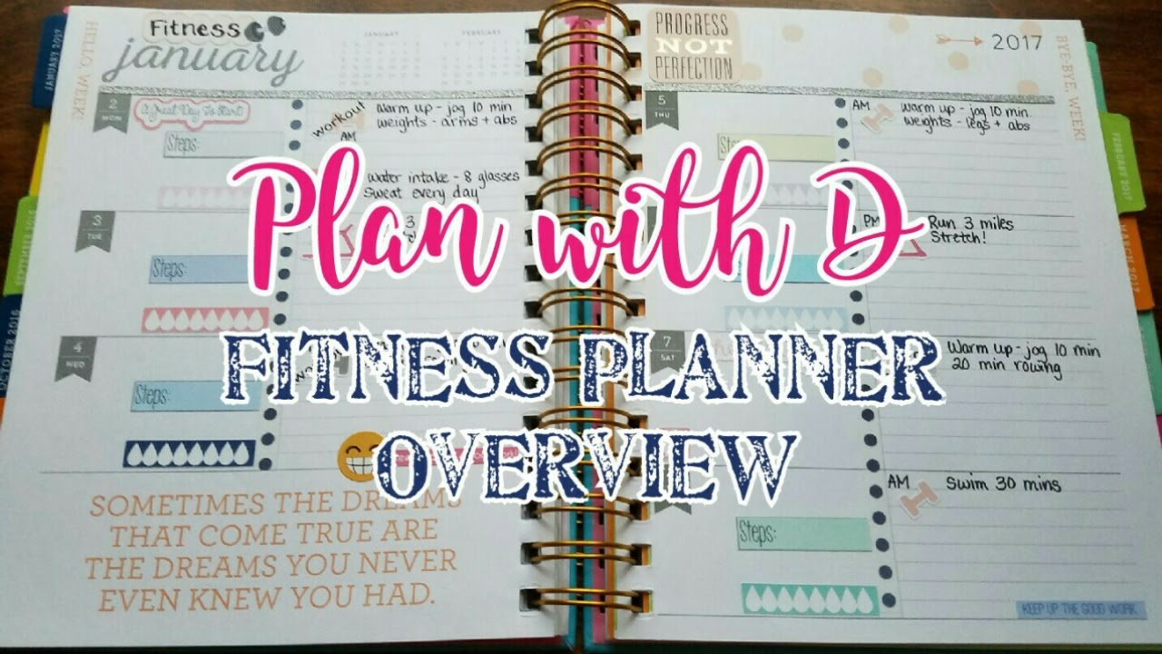 Plan with D \ 2017 Fitness Planner Overview