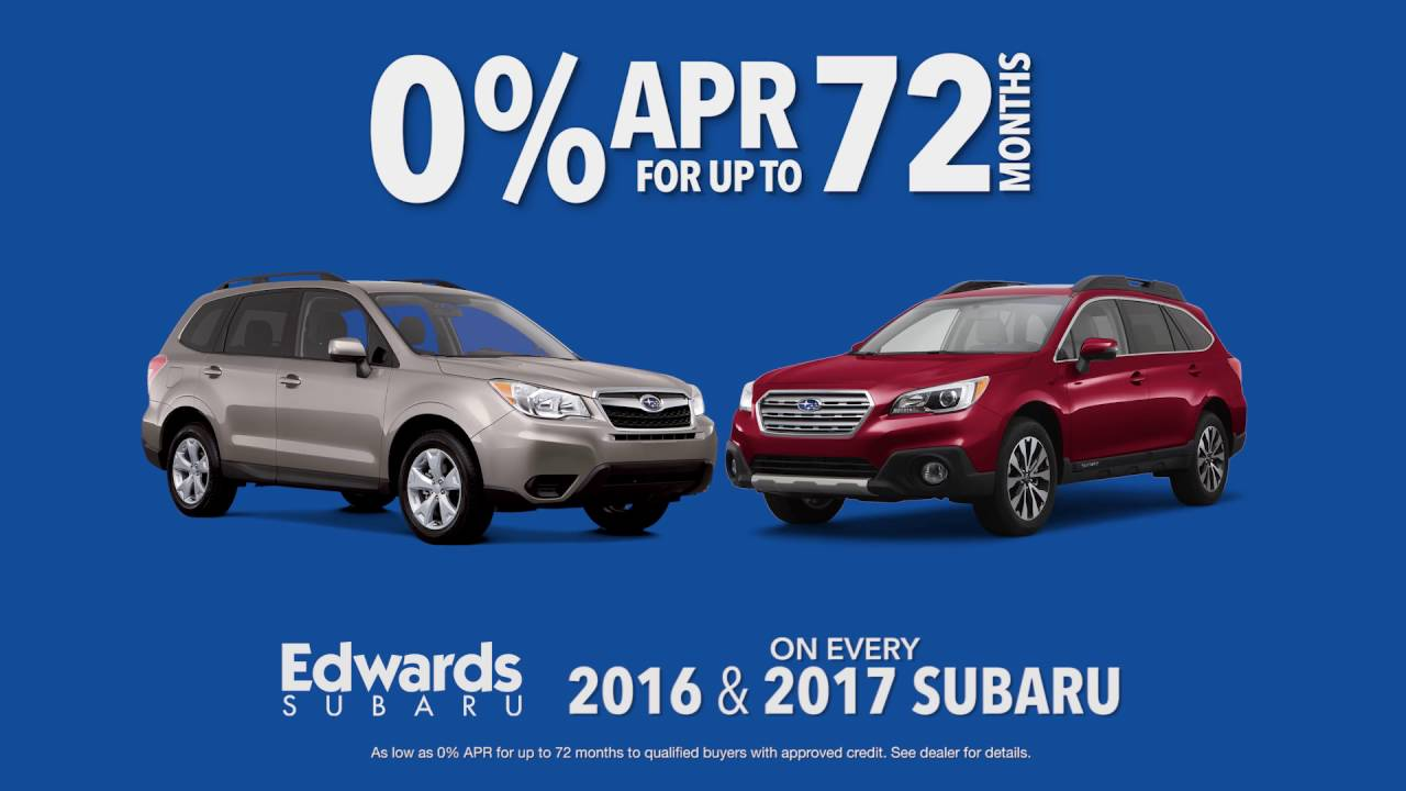edwards subaru 0 apr for 72 months on all 2016 and 2017 subarus youtube. Black Bedroom Furniture Sets. Home Design Ideas
