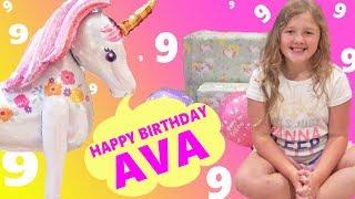 Ava's 9th Birthday Opening Birthday Presents ! Happy Birthday Ava !