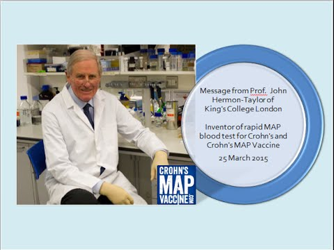Prof. Hermon Taylor Talks Rapid MAP Blood Test and Crohn's MAP