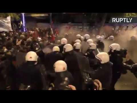 The Greek people resist against Obama visit and Imperialism