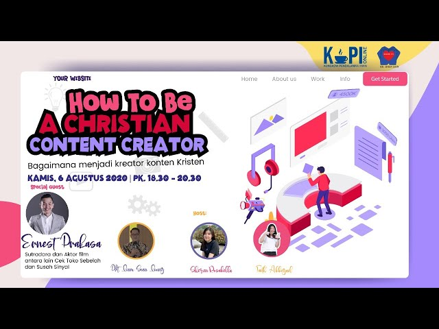 KoPI Online - How to be A Christian Content Creator