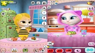 My Talking Angela Level 50 VS Emma the Cat  Level 10  Gameplay  Great Makeover for Children HD