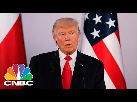 President Donald Trump Holds Joint News Conference With Norway's Prime Minister   CNBC