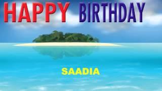 Saadia   Card Tarjeta - Happy Birthday