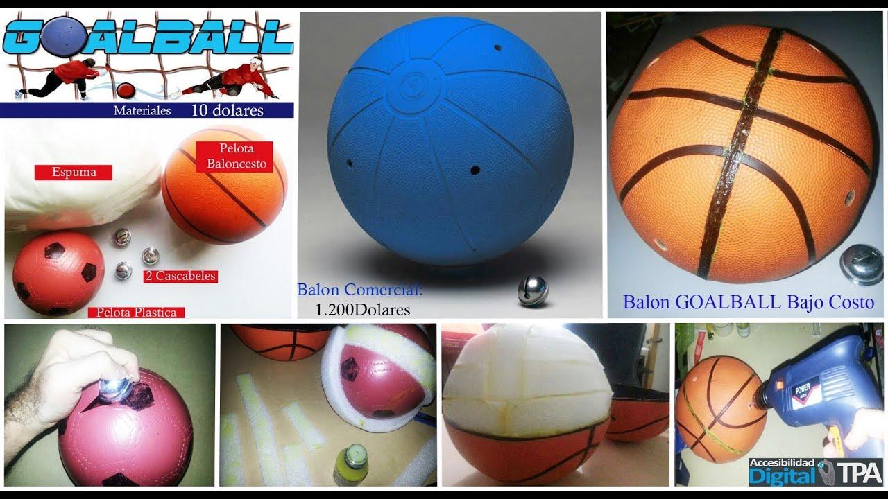 BALON SONORO GOAL BALL CASERO para Ciegos - Deporte Accesible  VISUAL 35ee69c612f78