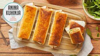 Youtube video Zapečeni topli tortiljini zvitki s špinačo, skušo in zeleno pomako