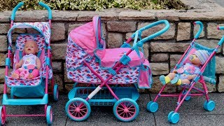 Baby Born Dolls Pushchair Stroller and Pram Unboxing Set Up & 3 Baby Born Dolls