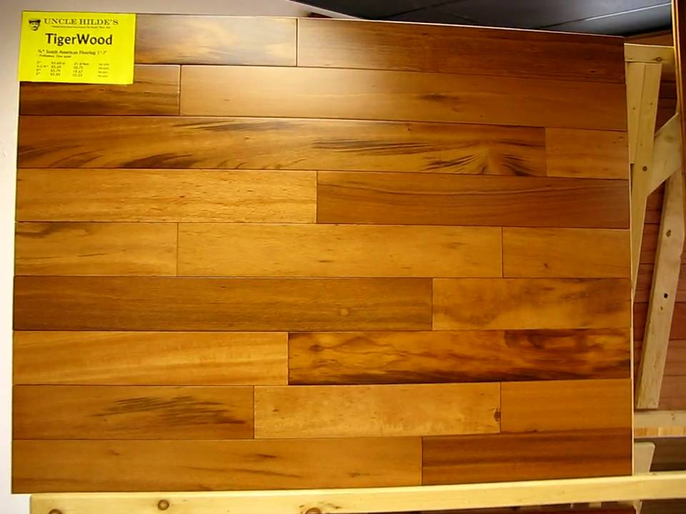 Tigerwood Exotic Hardwood Flooring At Uncle Hilde S In Tax